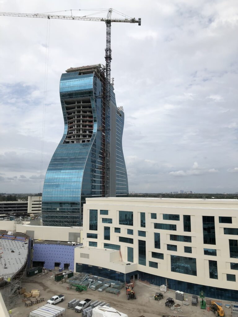 iconic guitar-shaped tower at seminole hard rock hotel and casino
